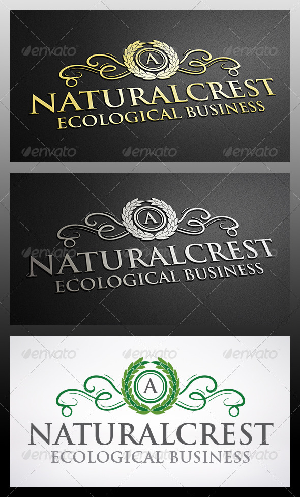 GraphicRiver Natural Crest Logo 6217490