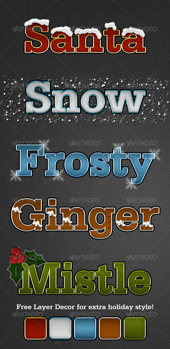 Holiday Styles - Text Effects Styles
