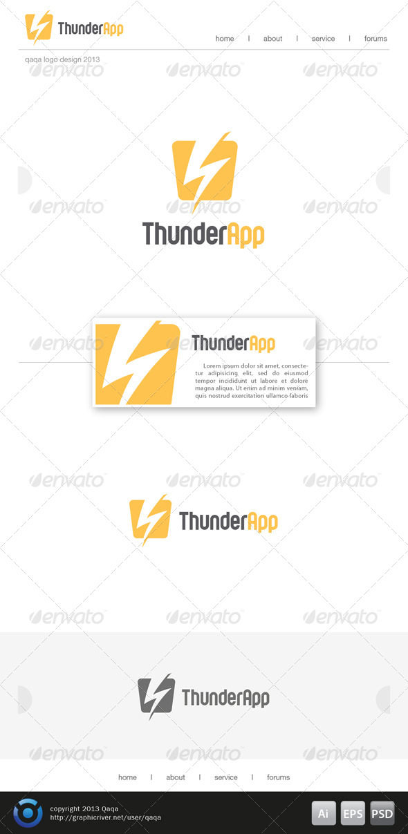 GraphicRiver Thunder App Logo 6217813