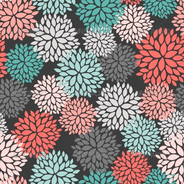 GraphicRiver Seamless Pattern of Abstract Flowers 6217886