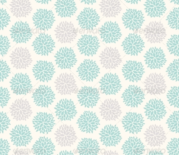 GraphicRiver Seamless Floral Geometric Pattern 6217894