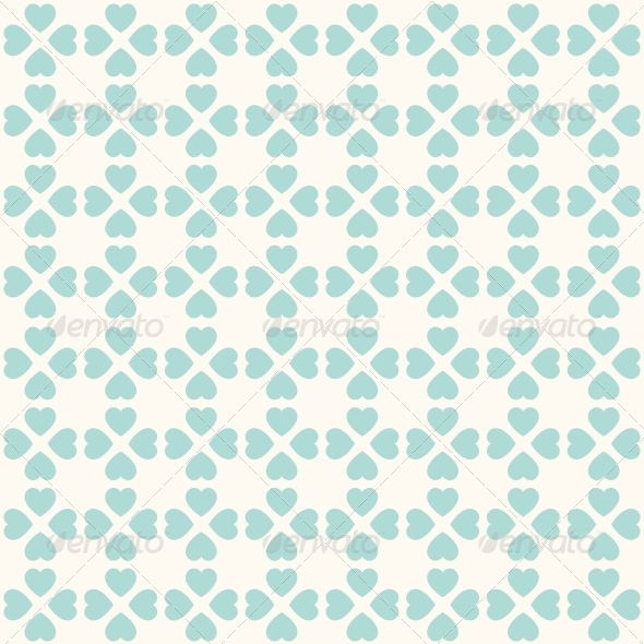 GraphicRiver Seamless Geometric Pattern with Hearts 6217907