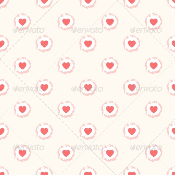 GraphicRiver Seamless Geometric Pattern with Hearts 6217914