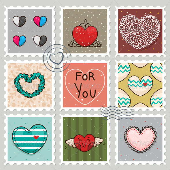 GraphicRiver Stamps with Hearts 6217958