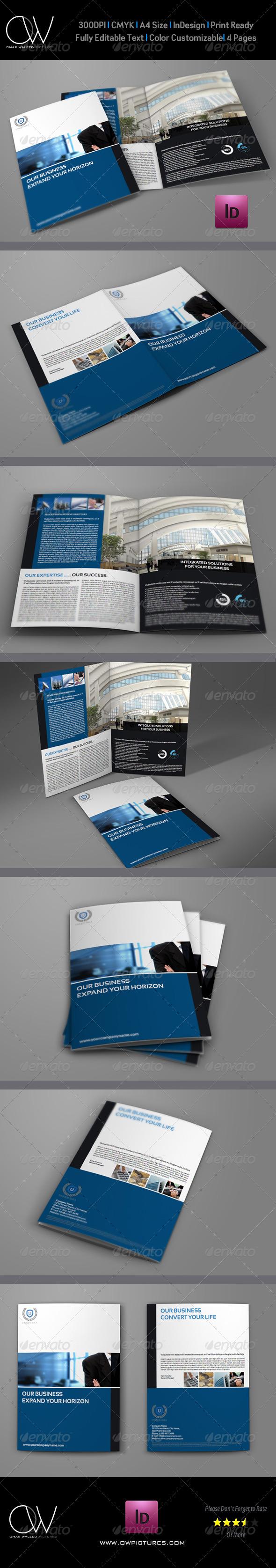 GraphicRiver Company Brochure Bi-Fold Template Vol.7 6217962