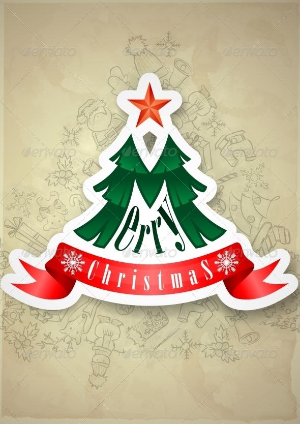 GraphicRiver Christmas Sticker 6217972