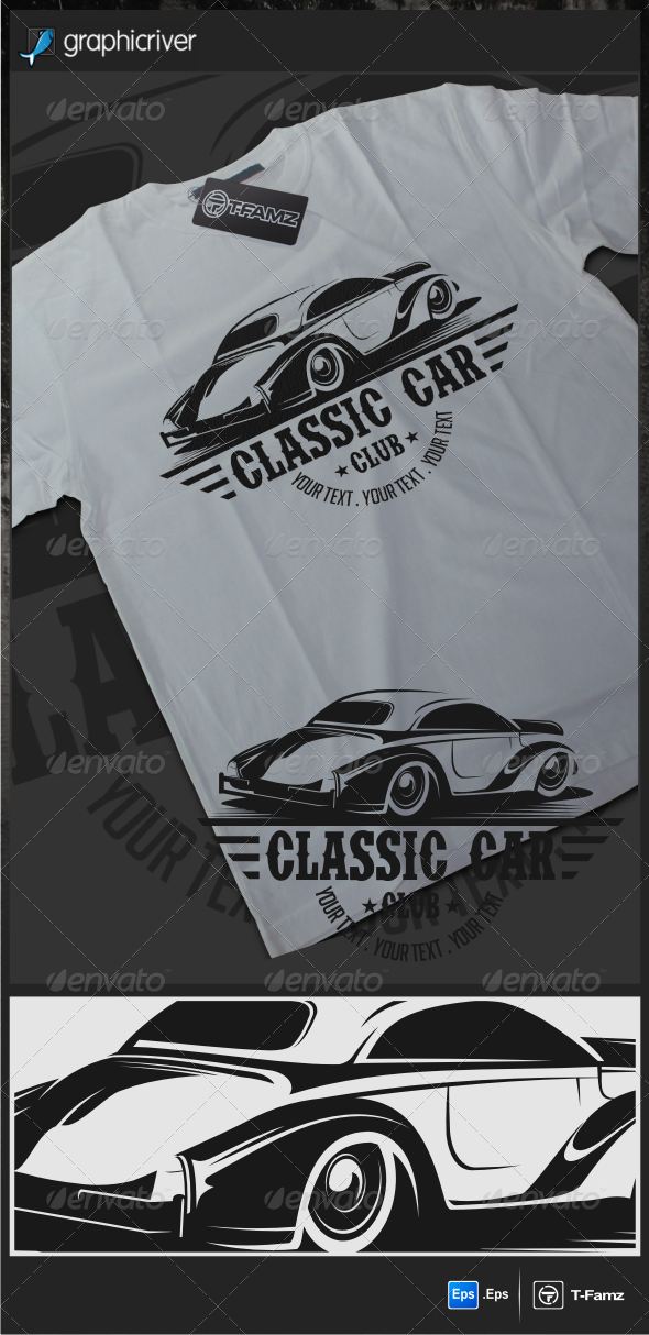 GraphicRiver Classic Car T-Shirts 6217975