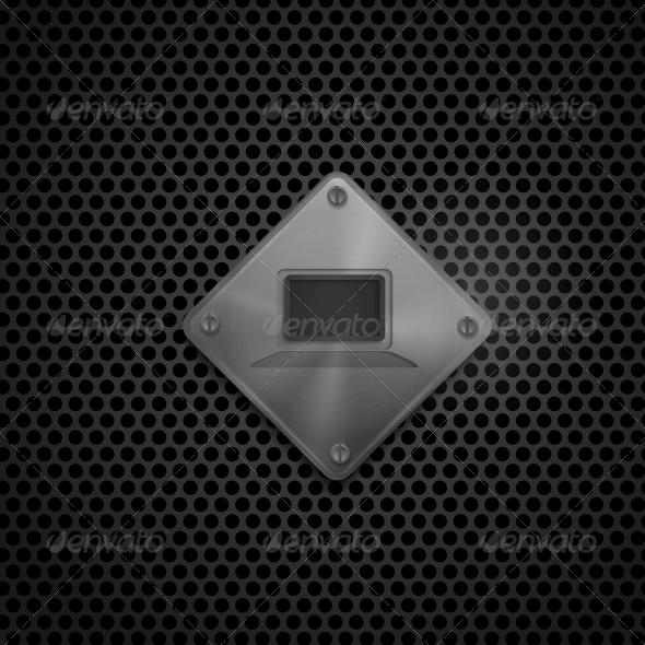 GraphicRiver Metal Multimedia Screen Icon 6218021