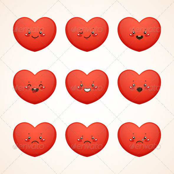 GraphicRiver Smiley Heart 6218128