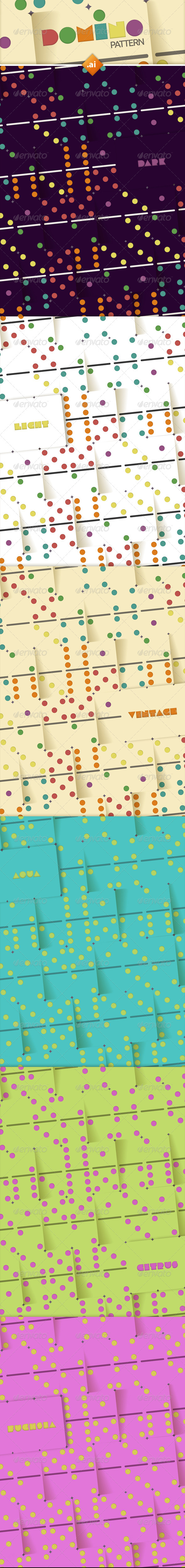 GraphicRiver Color Dominoes Background Patterns 6218131