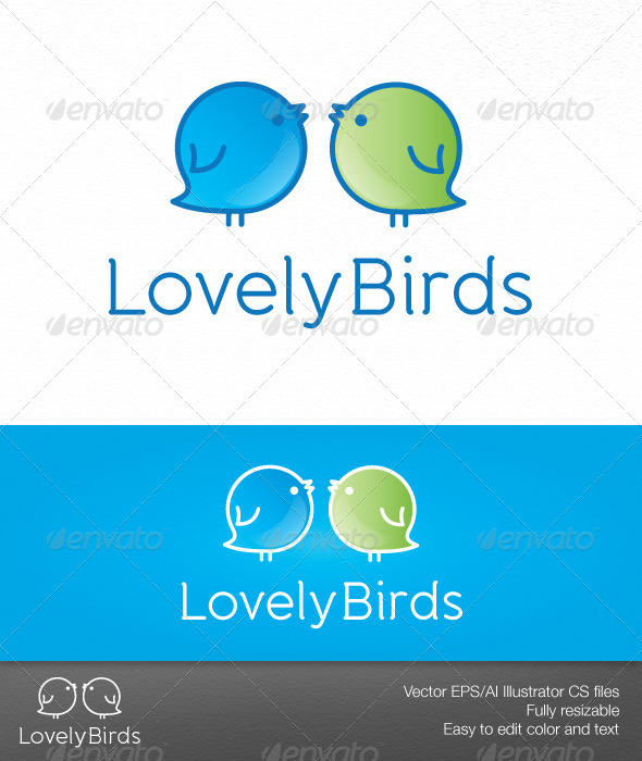 GraphicRiver Lovely Birds 6218030