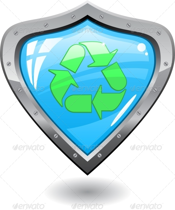 GraphicRiver Recycling Shield 6218347