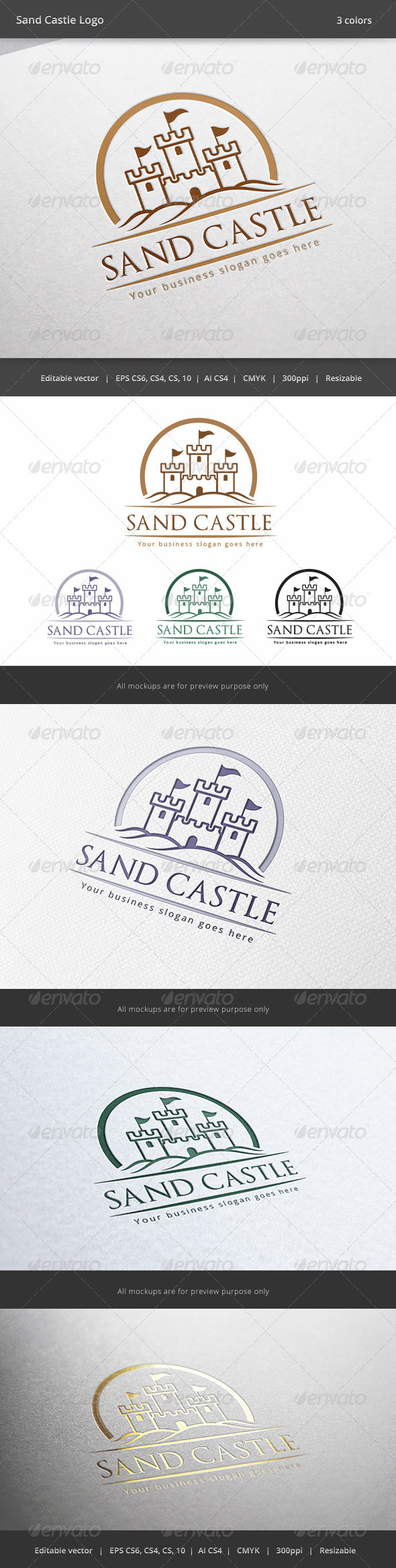 GraphicRiver Sand Castle Logo 6218441