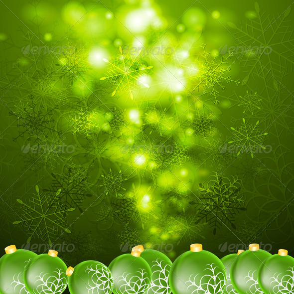 GraphicRiver Abstract Vector Shiny Christmas Background 6218506