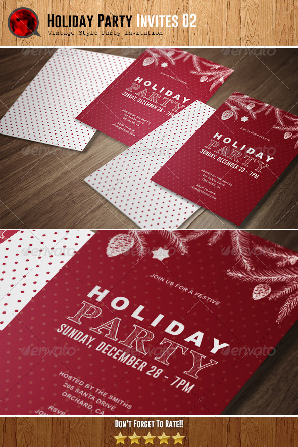 Holiday Party Invitation 02