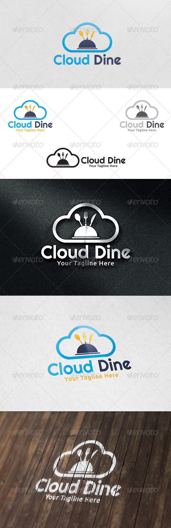 GraphicRiver Cloud Dine Logo Template 6218585
