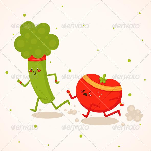 GraphicRiver Broccoli vs Tomato 6218588