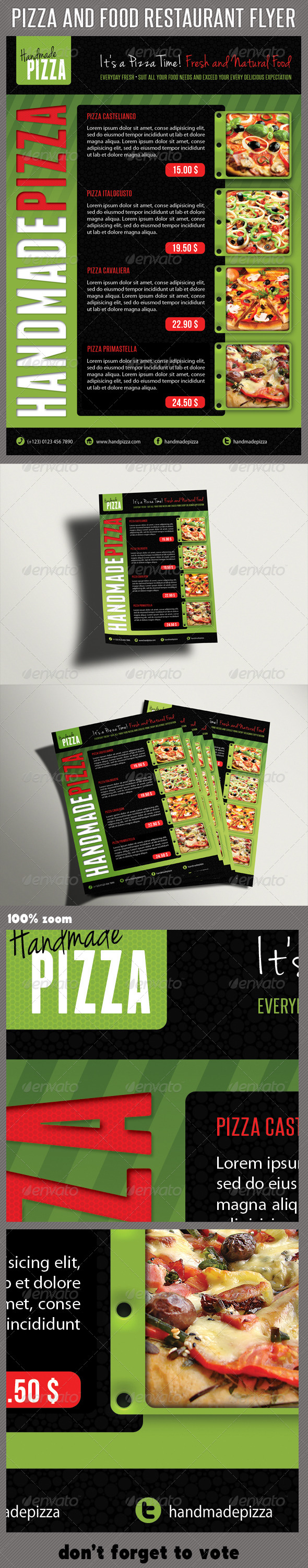 GraphicRiver Food And Pizza Menu Flyer 06 6218632