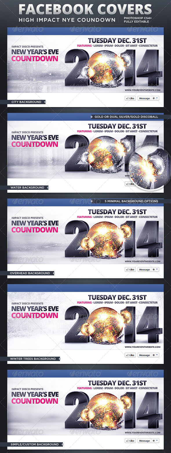 GraphicRiver High Impact New Year s Eve Countdown FB Covers 6218942