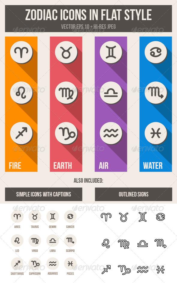 GraphicRiver Zodiac Symbols Set 6218946