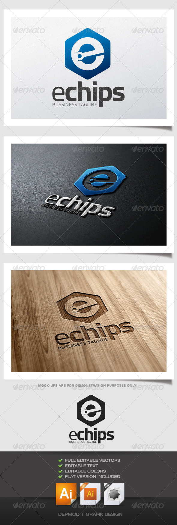 Echips Logo - Letters Logo Templates
