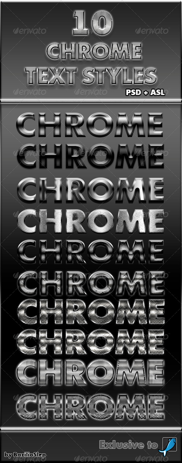 GraphicRiver 10 Chrome Text Styles 6208872