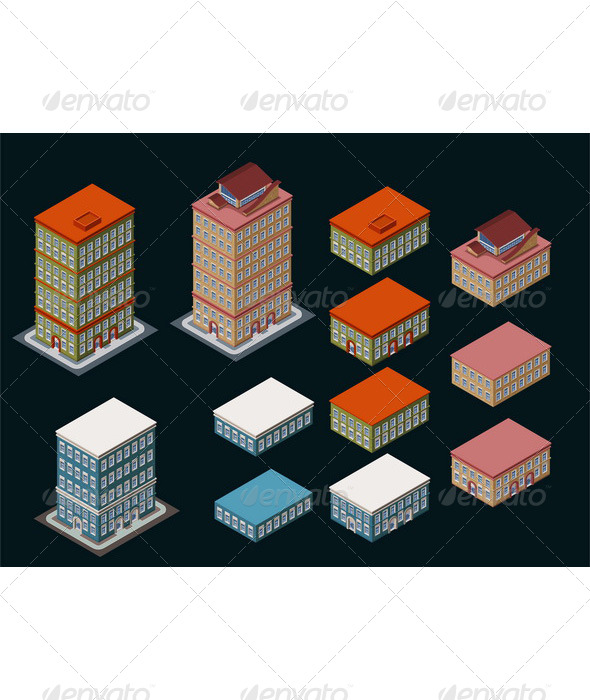 GraphicRiver Isometric Building 6211372