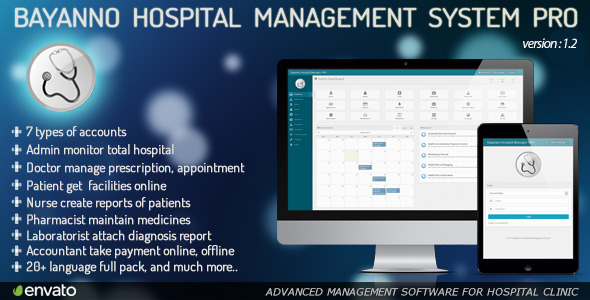 bayanno hospital management system pro 3.0 nulled code