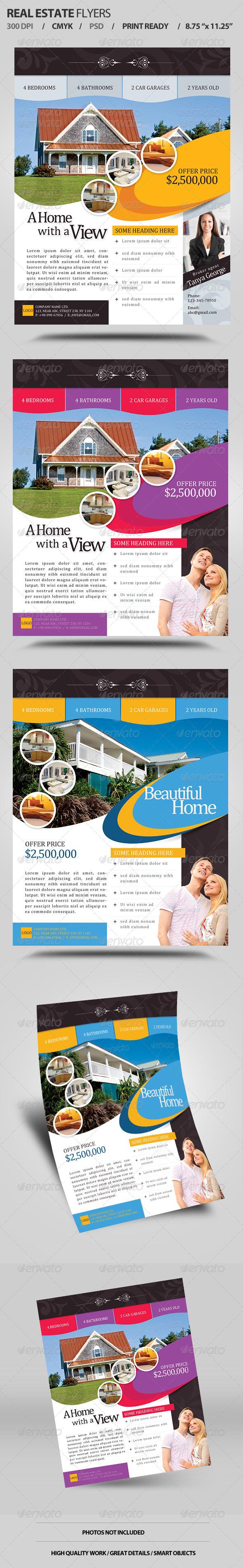 GraphicRiver Real Estate Flyers V1 6219488