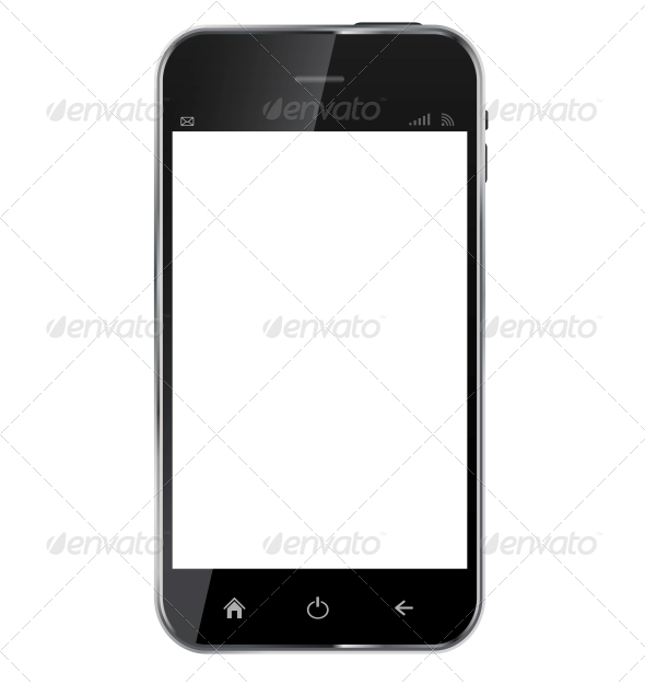 GraphicRiver Abstract Design Realistic Mobile Phone with Blank 6219661