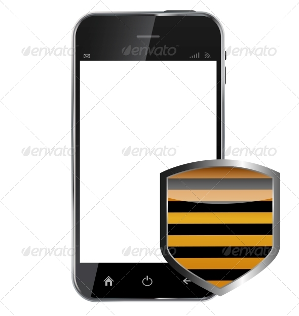 GraphicRiver Abstract Design Realistic Mobile Phone with Protection 6219677
