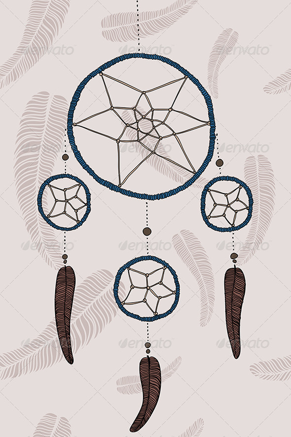 GraphicRiver Blue Dreamcatcher 6219678