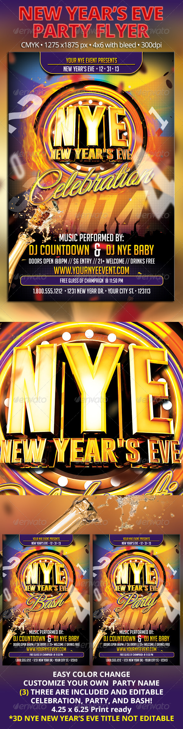 GraphicRiver NYE New Year s Eve Part Flyer 6219687
