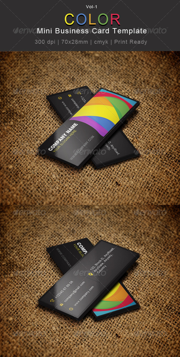Mini Business Card Templates Designs From GraphicRiver - Mini business card template