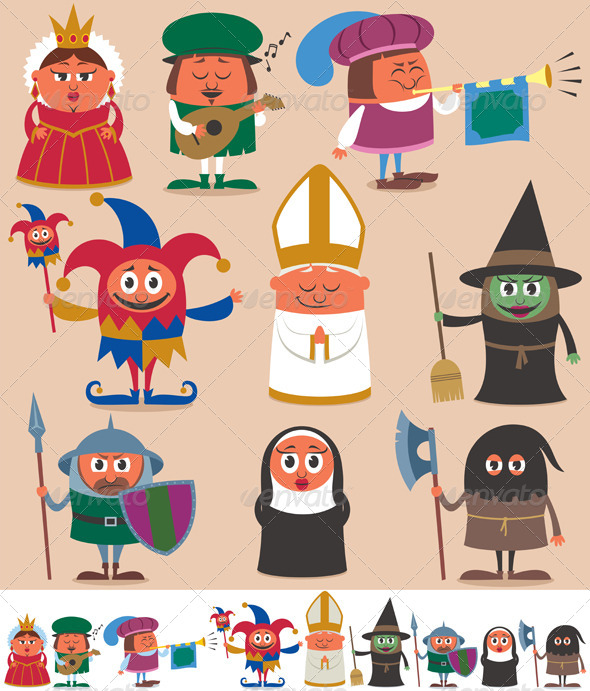GraphicRiver Medieval People 2 6219700