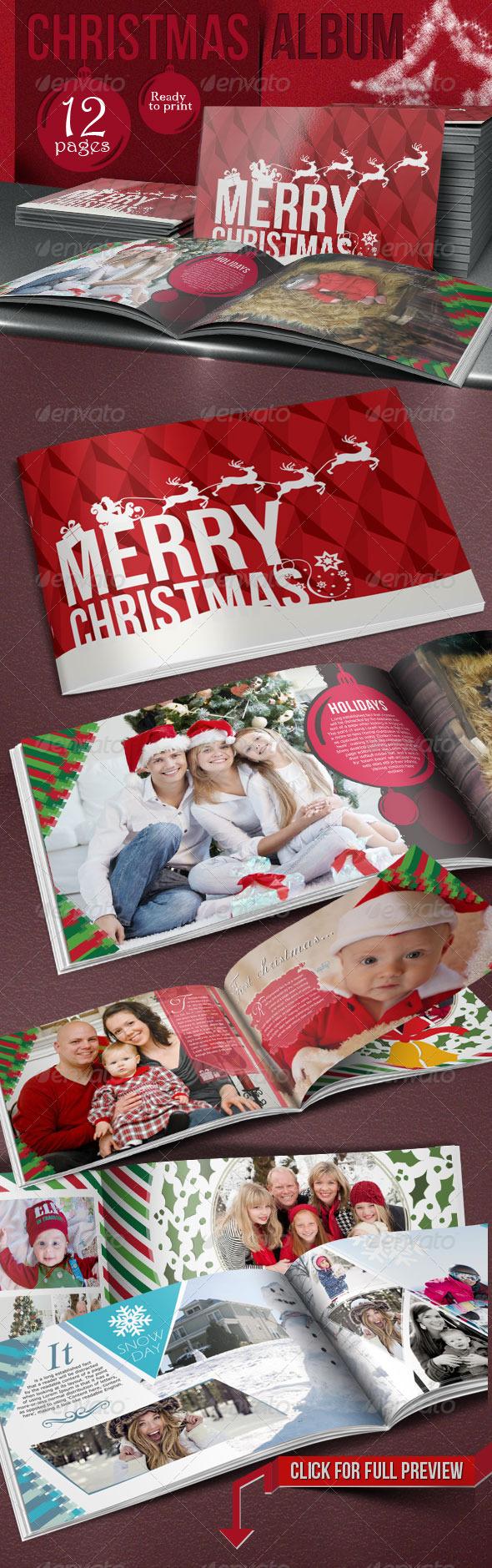 GraphicRiver Family Christmas Photo Album 6219730