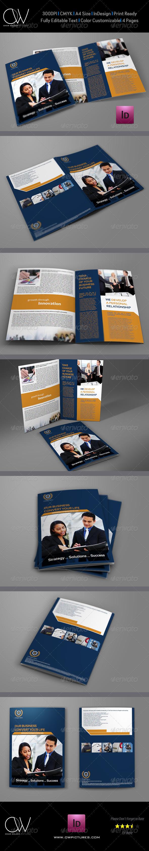 GraphicRiver Company Brochure Bi-Fold Template Vol.8 6219733