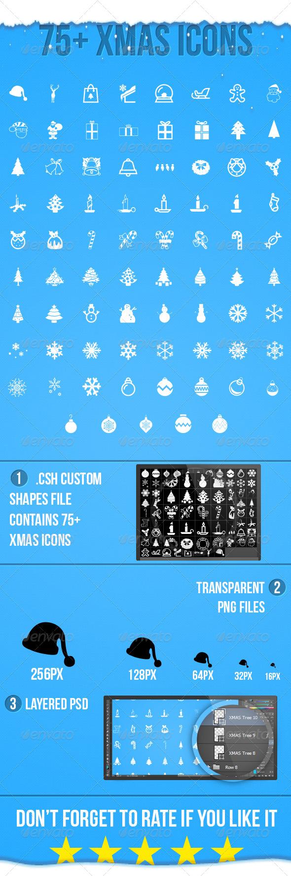 GraphicRiver Xmas Icons 6180117