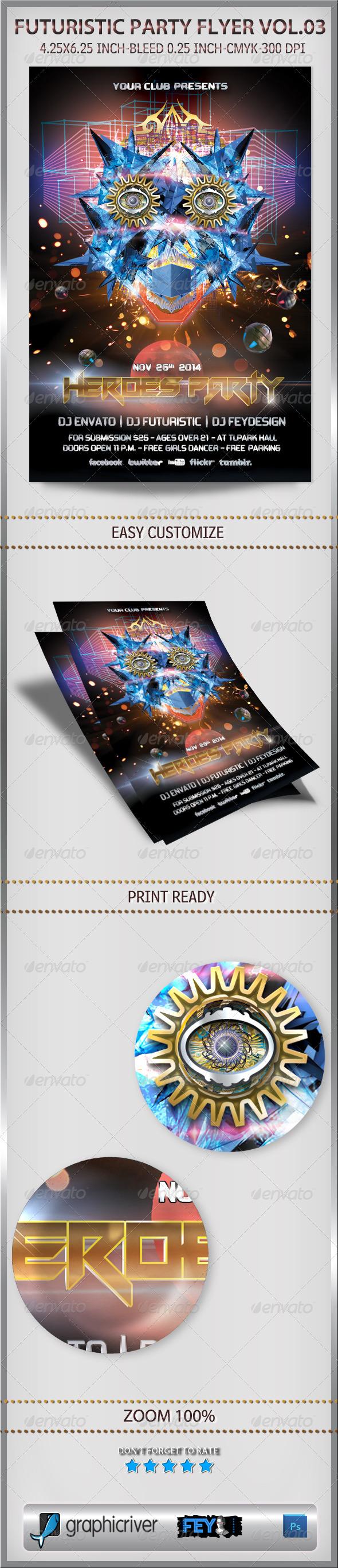 GraphicRiver Futuristic Party Flyer Vol.03 6219880