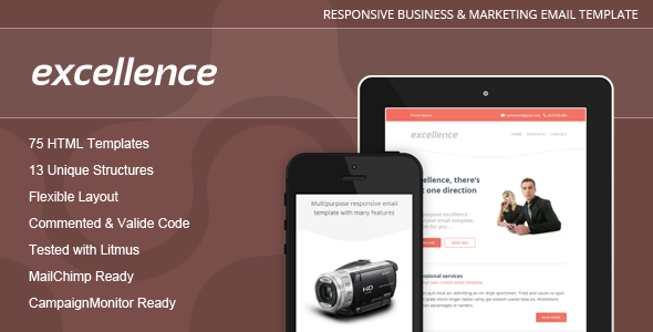 Excellence - Responsive Email Template