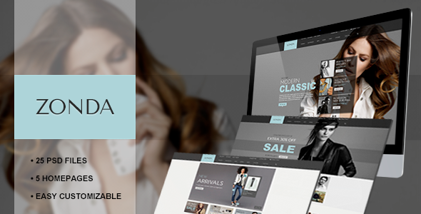 ThemeForest Zonda Responsive eCommerce PSD Template 6210977