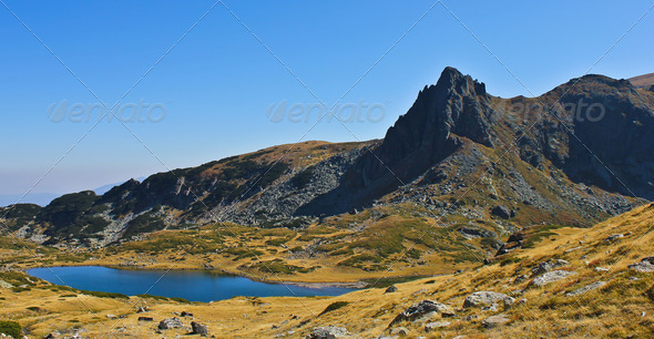 Lake in the mountain - Stock Photo - Images