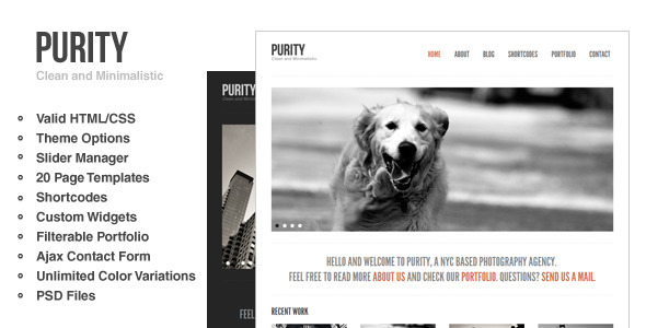 ThemeForest Purity Clean Minimal & Bold WordPress Theme 639774
