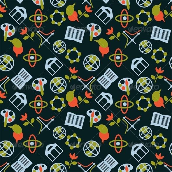 GraphicRiver Science Symbols Pattern 6220356