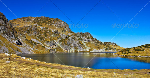 mountain lake - Stock Photo - Images