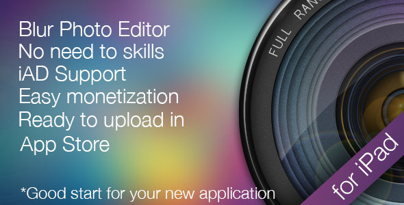 CodeCanyon Photo Blur Blur Wallpaper editor for iPad 6220687