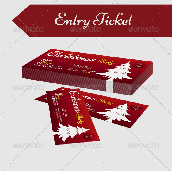 GraphicRiver Christmas Party Entry Pass 6221177