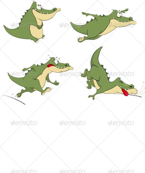 GraphicRiver Crocodiles Clip Art 6221186