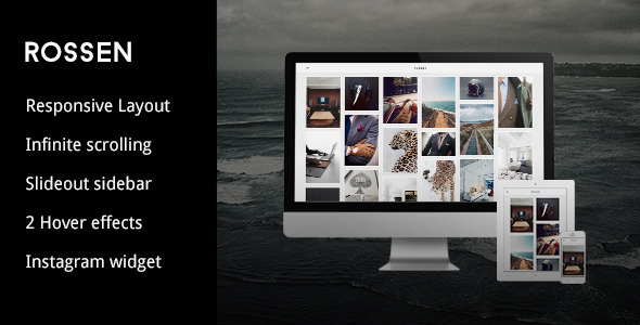 ThemeForest Rossen A Responsive Grid Tumblr Theme 6221325
