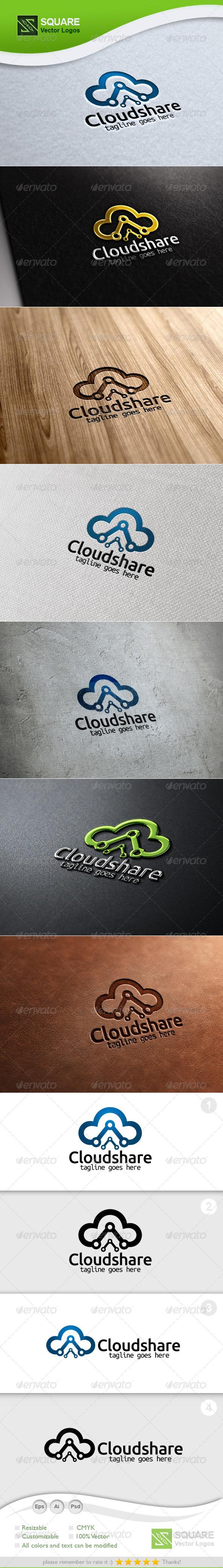 Cloud, Share Vector Logo Template - Nature Logo Templates